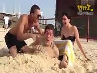 沙滩恶搞女人分娩 17173游戏