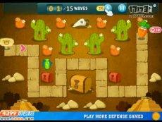 保卫萝卜沙漠模式第1关 小游戏视频攻略