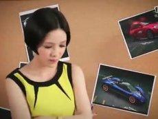 《天天飞车》郭采洁亲笔设计游戏专属座驾