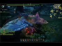 怪物猎人OL[八幡]黑狼鸟挑战-大剑【技能解析】