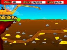挖掘机与卡车工作视频 儿童工程车表演  汽车总动员动画片中文版 吊车黄金矿工5 精彩内容